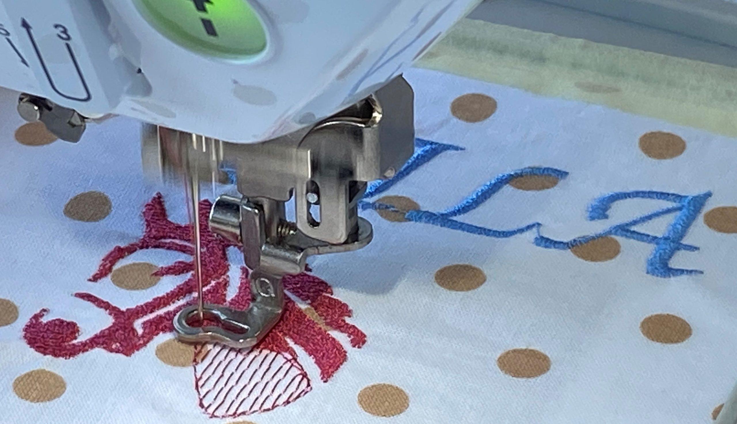 Nähen und Sticken – wir testen die Möglichkeiten der neuen Stickmaschine